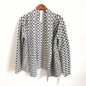 Chico's Geometric Waterfall Cardigan Sweater